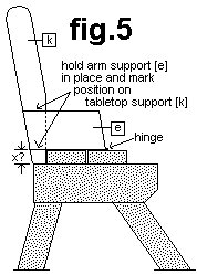 2 Piece Convertible Picnic Table Plan : Tabletop and Arm Supports