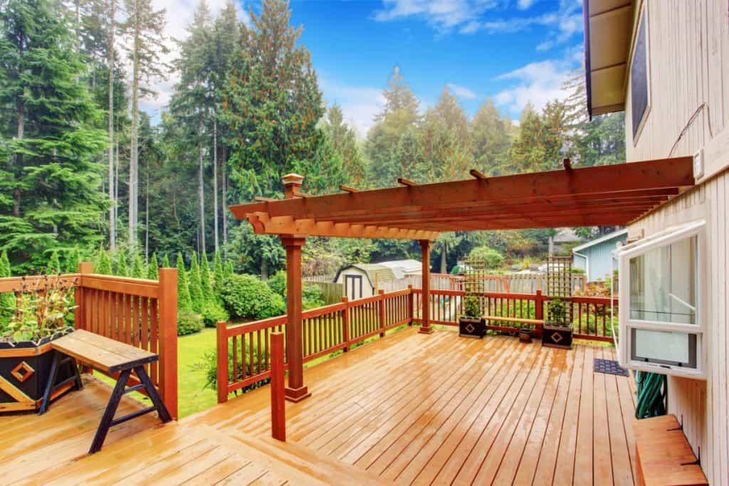 A beautiful Wooden Deck