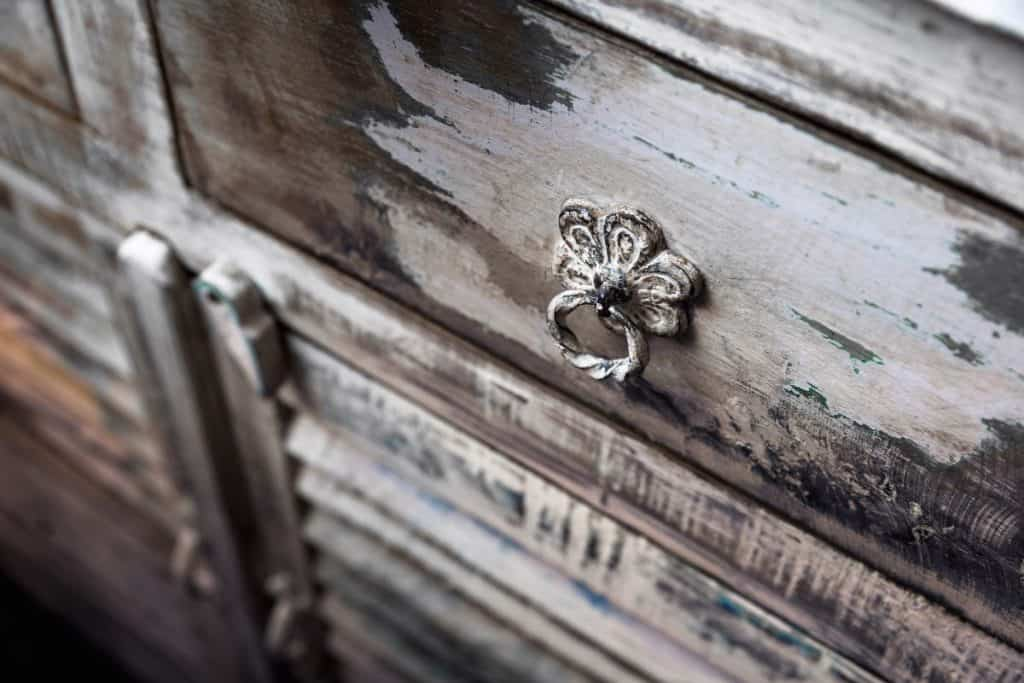 Authentic Wooden Cabinet with Spanish style handle pulls