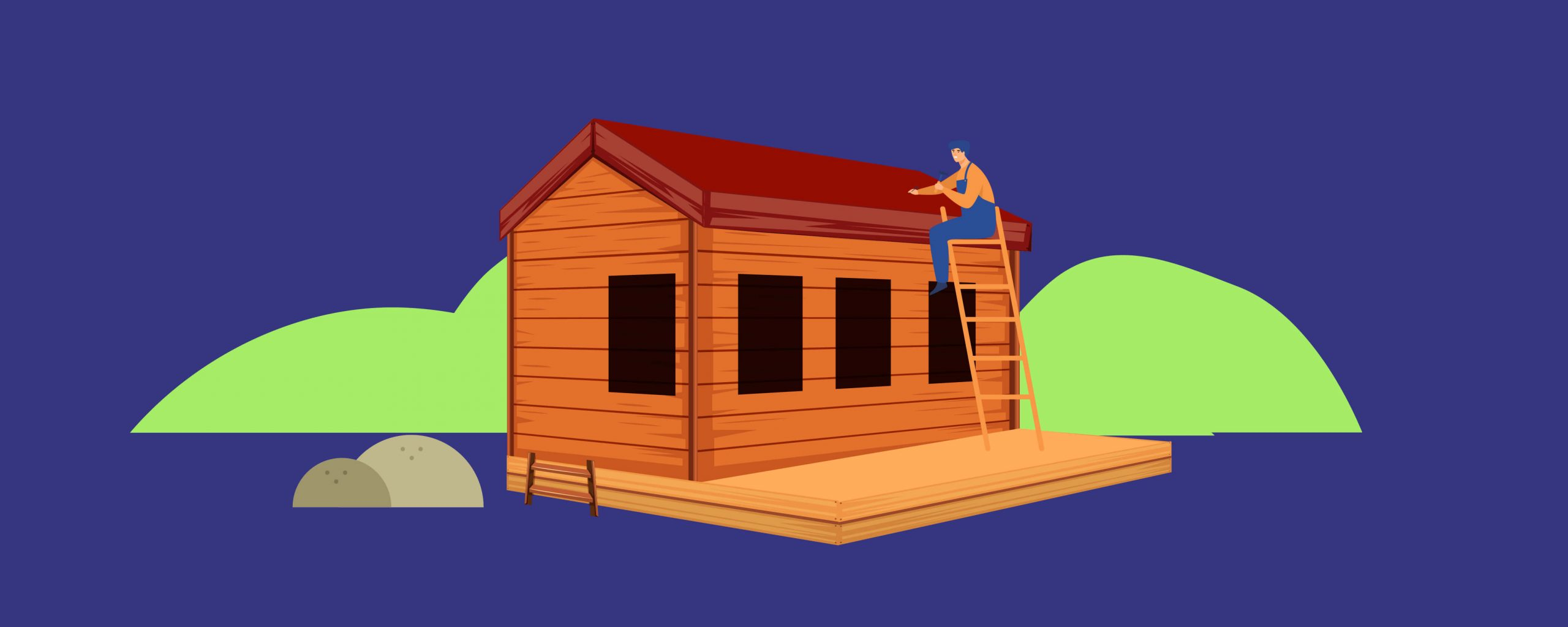 Build the shed roof