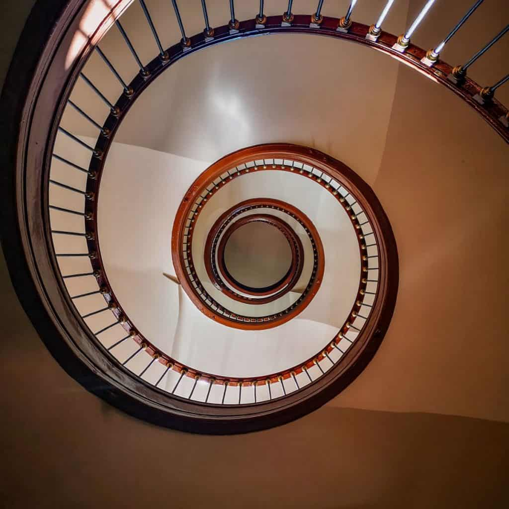 Classic Spiral Stairs