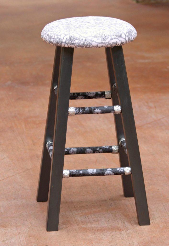 Elegant wood stool
