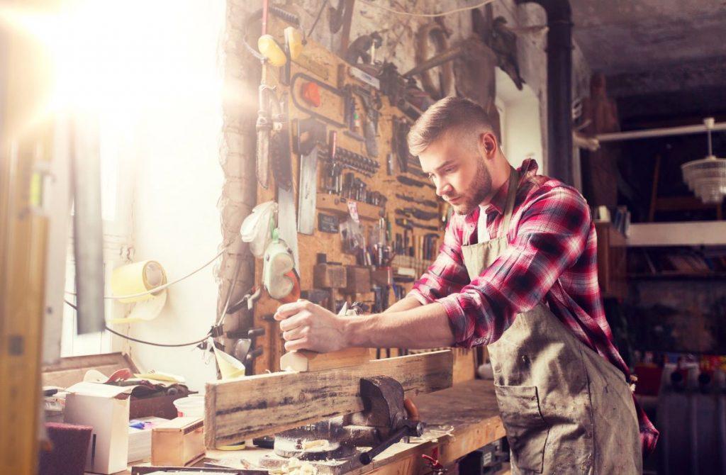 Man Working on woodwork
