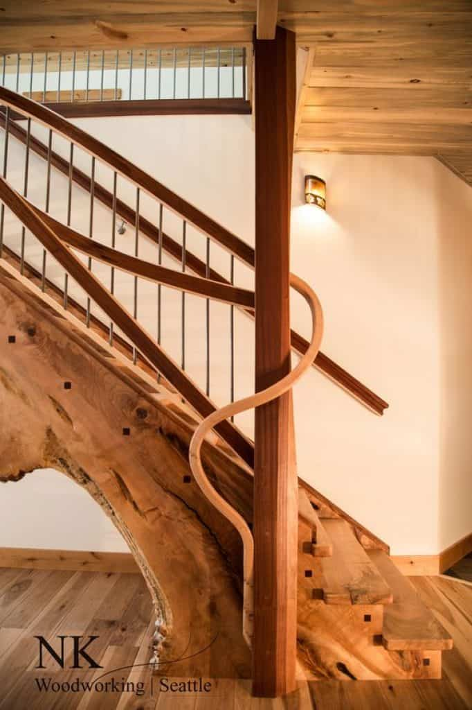 """""""Ocean Side"""" Staircase by NK Woodworking"""