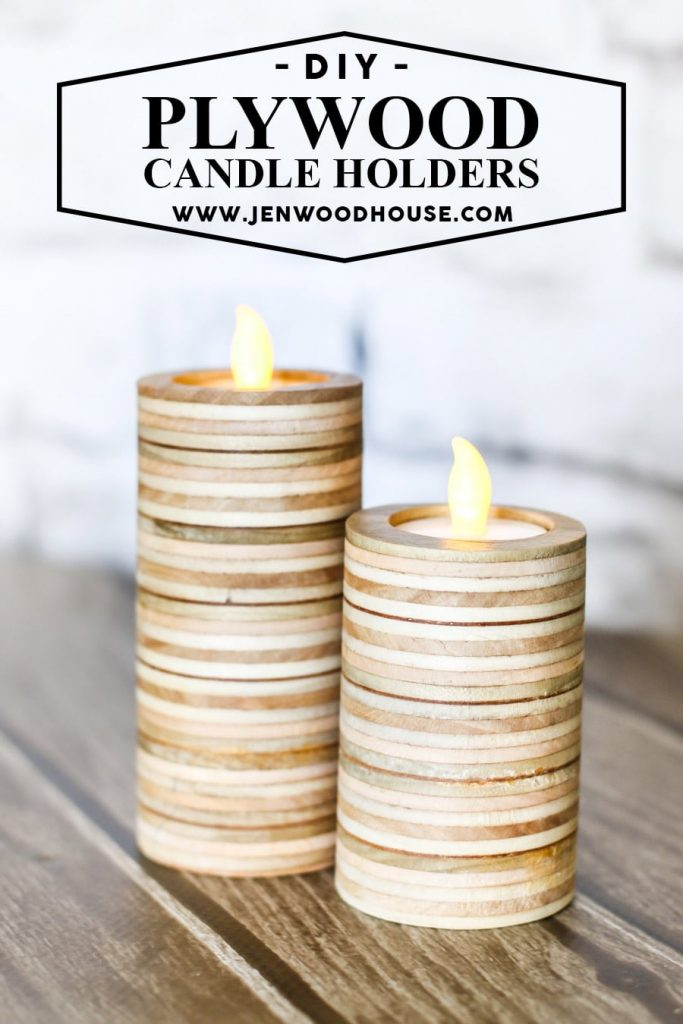Plywood Candle Holders