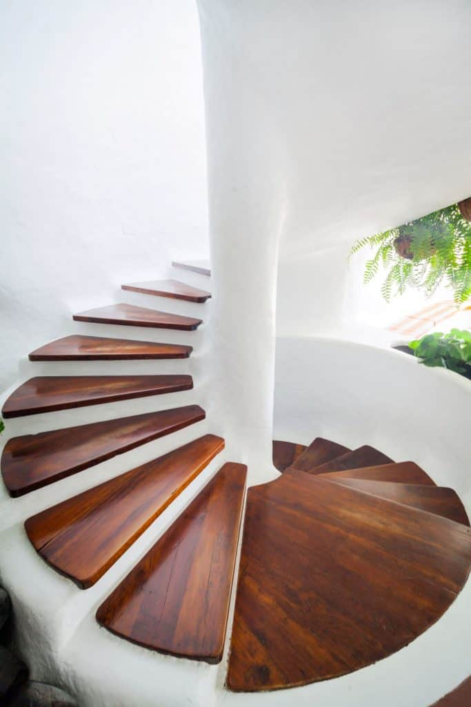 Quirky Spiral Staircase with Open Rises