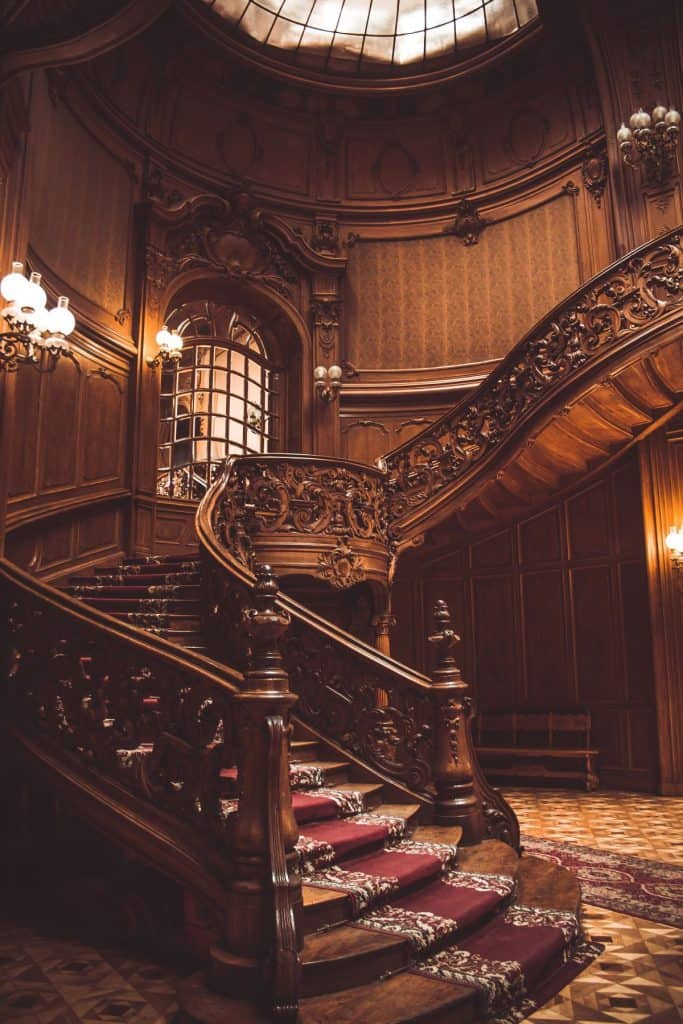 Royal Wooden Staircase with Spectacular Carvings
