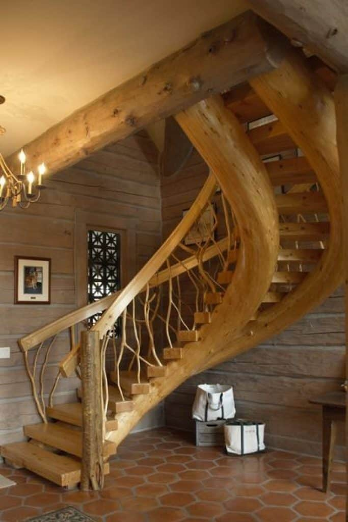 Rustic Custom Made Wooden Staircase