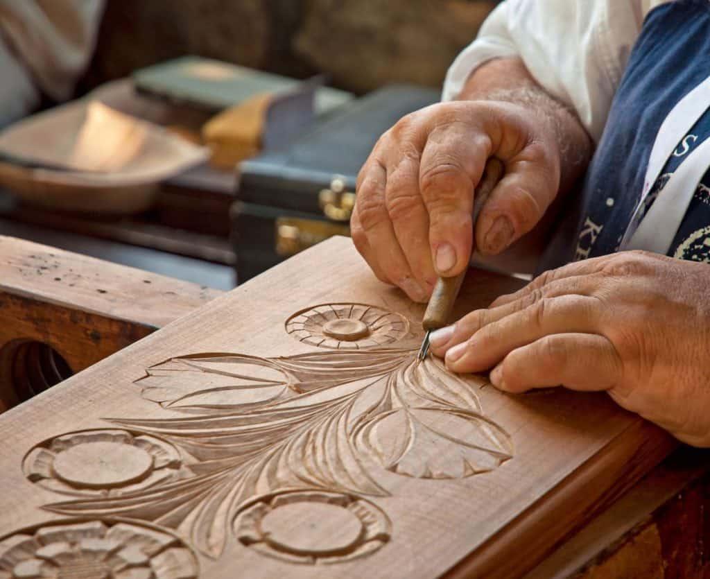 Wood Being engraved
