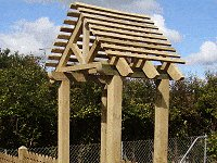 Peaked Top Arbor : Roof in Place
