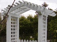 Arbor with Pitched Rafters : Arbor Top On