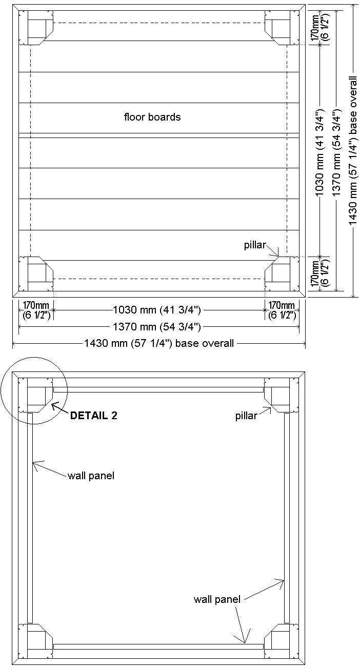 Tardis Plan : base, floor and wall layout