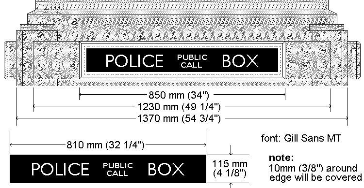 Tardis plan : Police Box Sign