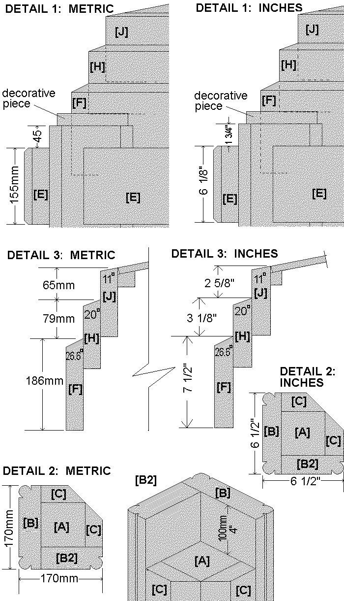 Tardis Plan : Details - metric & imperial version