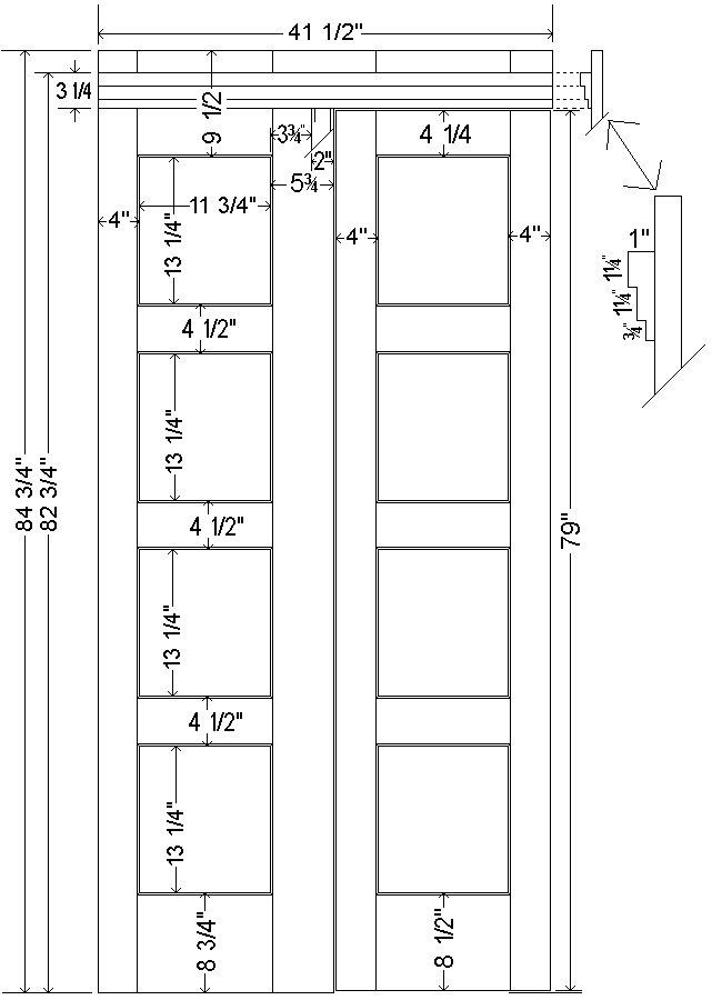 Tardis Plan : wall/door - imperial version