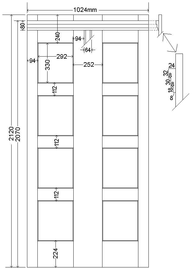 Tardis Plan : wall fixed - metric version