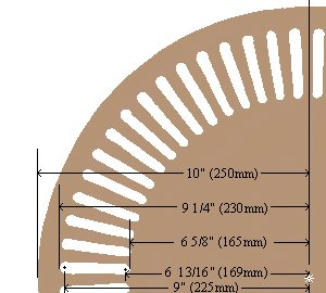 K2 Telephone Booth Ceiling Rose Dimensions