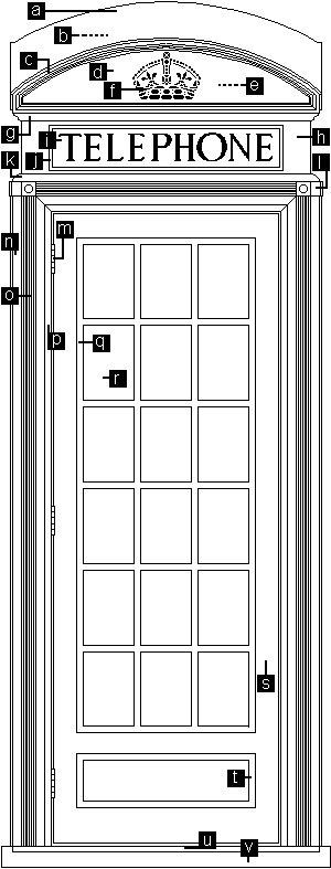 K2 Telephone Booth Descriptive Plan 300
