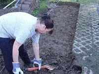 Brick Pathway : Preparing the Ground