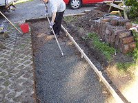Brick Pathway : Spread a Thin Cover of Agregate