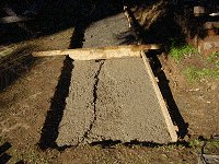 Brick Pathway : Keep Pouring Aggregate