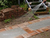 Brick Pathway : Exposing the Aggregate
