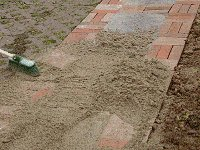 Brick Pathway : Pour Sand Over the Whole Path