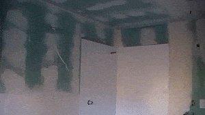 Bathroom Do-Over : Wall Plastered