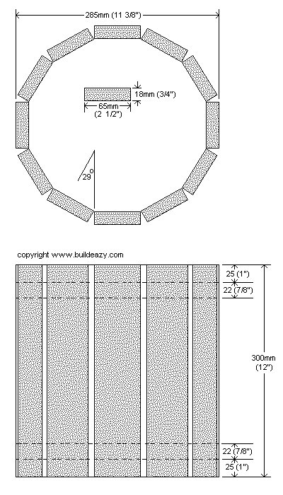 Decorative Wooden Bucket : Bucket Plan
