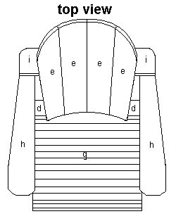 Cape Cod Chair Plan - Top Elevation