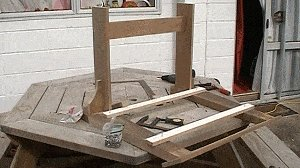 Adirondack Chair : Legs, Arms and Upper Back-Support Assembly