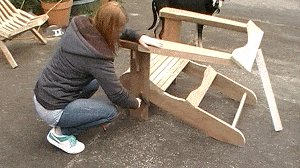 Adirondack Chair : Chair Arm Assembly Joined to the Seat Assembly