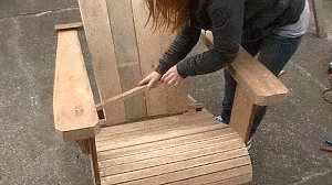Remaining Seat-Slats Added to the Cape Cod Chair