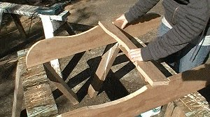 Adirondack Chair : Fix the Lower Back Support to the Seat Sides