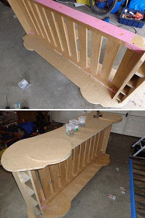 Kid's Racing Car Bed Plan :  Add the Side Panels