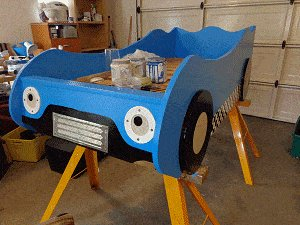 Kid's Racing Car Bed Plan : Paint