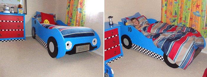 Kid's Racing Car Bed Plan : Mattress