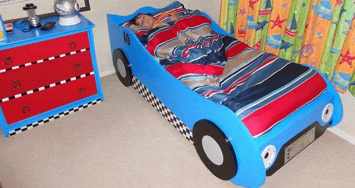 Kid's Racing Car Bed Plan : Finish