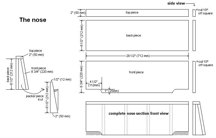 Kid's Racing Car Bed Plan : Front Section