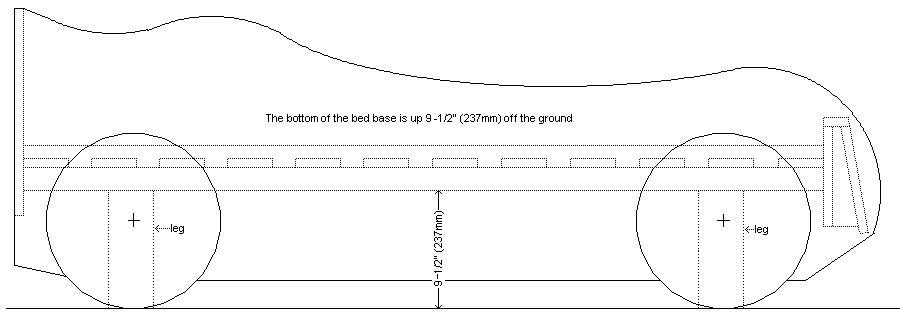 Kid's Racing Car Bed Plan : Add the Legs 1