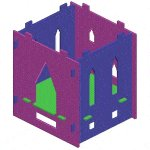 Kid's Castle Playhouse Plan : Floor and Walls