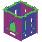 Kid's Castle Playhouse Plan : Walls Eaves