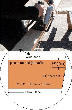 Concrete Seat Plan : Cutting and Assembling the Frame Pieces of the Seat Form