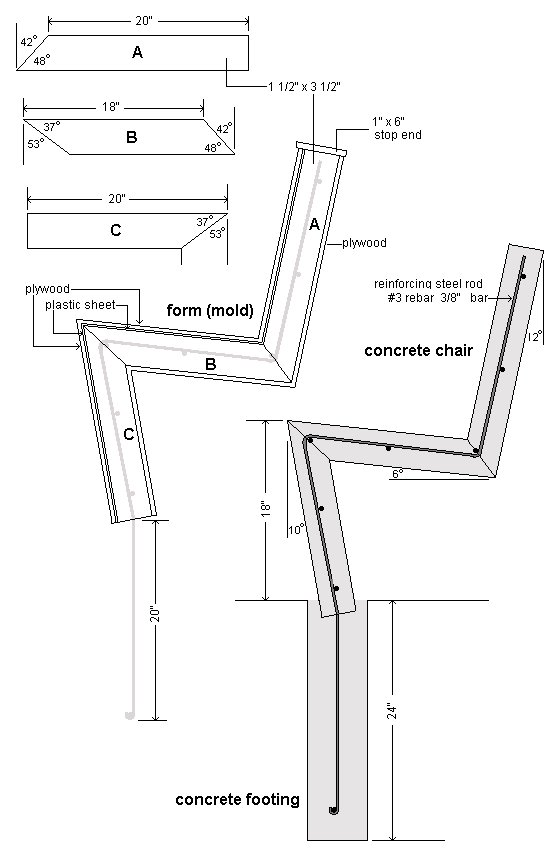Concrete Chair : Plans and Material Requirements