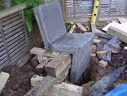 Dig the Footing and Position the Chair