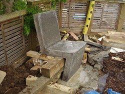 Concrete Chair : Pour the Footing Concrete