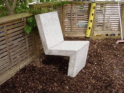 Concrete Chair : Grind and Clean Up