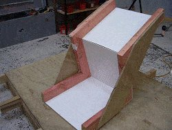 Concrete Chair : Plastic Sheet in the Form