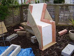 Concrete Chair : Positioning the Form for the Steel and Concrete