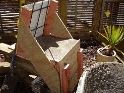 Concrete Chair : Mix and Pour Some Concrete